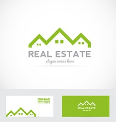Real estate house shape logo vector