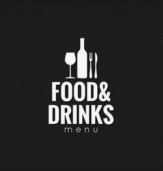 restaurant menu food and drink background vector image vector image