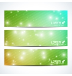 Set of the horizontal banners Background vector image vector image
