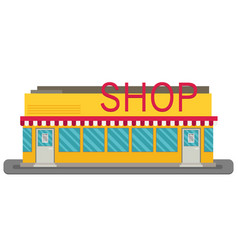Shop or store building vector
