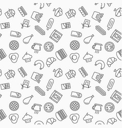 simple fast food seamless pattern vector image