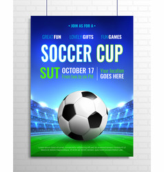 soccer cup poster vector image