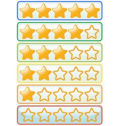 Sticker design for yellow stars vector
