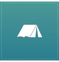 Tourist tent flat icon vector
