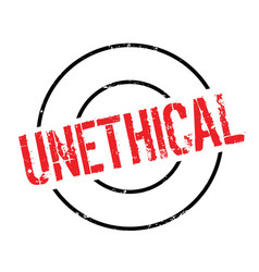 Unethical rubber stamp vector