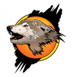 wolf color vector image