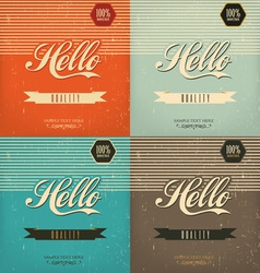 Vintage design set vector