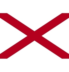 Flag of alabama in correct proportions and colors vector