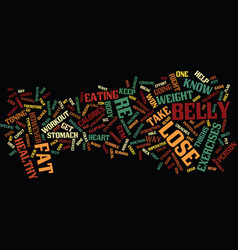 Lose belly text background word cloud concept vector
