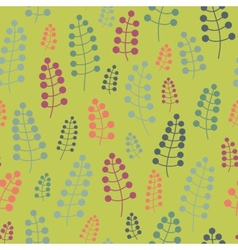 Seamless pattern with twigs and berries on a vector