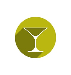 Alcohol beverage theme icon classic martini glass vector