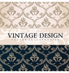 Vintage wallpaper gift wrap floral vector