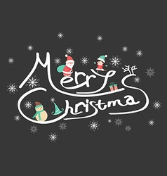 Christmas typographic background vector