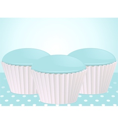 blue cupcakes vector image