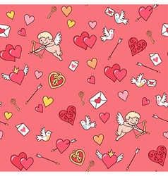 valentine card pattern vector image
