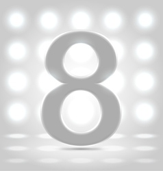 8 over back lit background vector image vector image