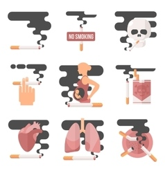 concept of nicotine consumption smoking pregnant vector image