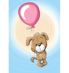 Puppy with balloon vector