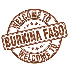 Welcome to burkina faso vector