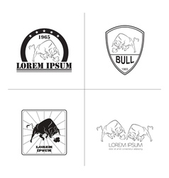 Bull logo and badges templates vector image