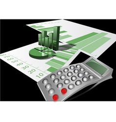 calculator and graph vector image vector image