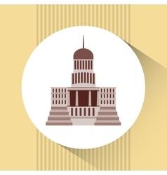 Capitol building design vector