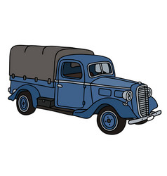classic blue small truck vector image vector image