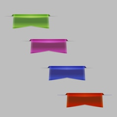 Colorful ribbon vector image vector image