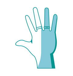Drawing hand people with jewel rings vector