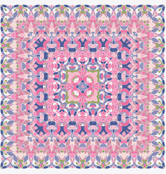 Elegant square pink abstract pattern vector