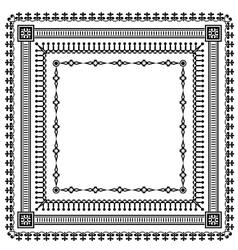 frame set pattern vector image vector image