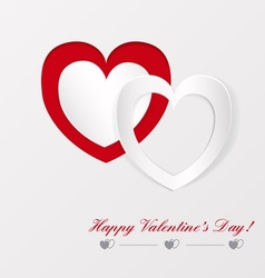 Greeting card on Valentines day vector image vector image