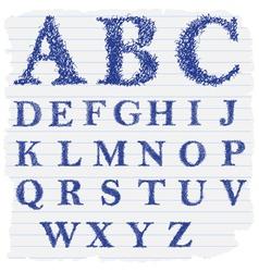 Hand drawn decorative english alphabet letters vector
