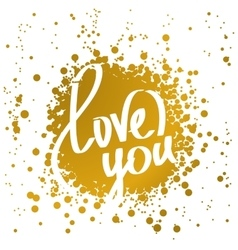 Hand drawn words love you vector