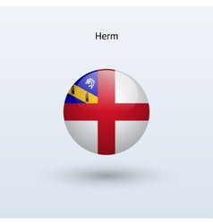 Herm round flag vector