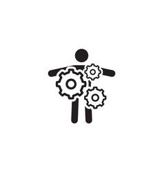 Key person icon business concept flat design vector