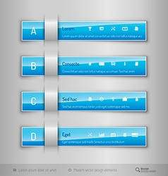 Modern business tabs - infographics - template for vector