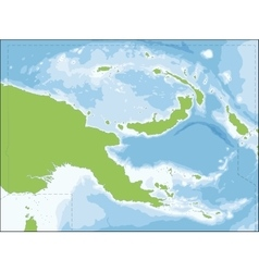 Papua New Guinea map vector image vector image