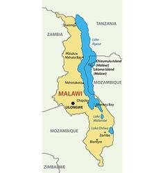 Republic of Malawi - map vector image vector image