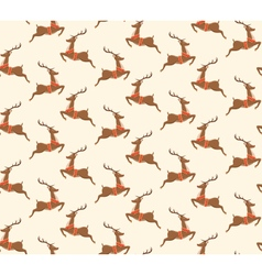 Seamless Christmas Pattern with Santa Reindeers vector image vector image