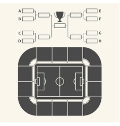 Soccer stadium chart for groups and teams vector