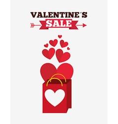 valentines sale design vector image