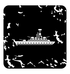 Warship icon grunge style vector
