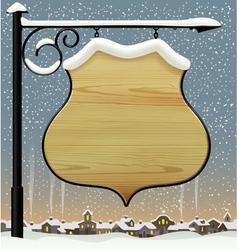 Winter vintage signboard vector image
