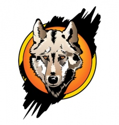 wolf front vector image