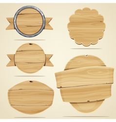 Wood elements vector image vector image