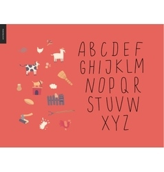 Uppercase alphabet 2 vector
