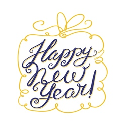 Happy new year lettering composition vector
