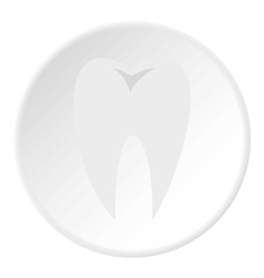 Tooth icon flat style vector