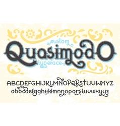 Quasimodo font 01 vector